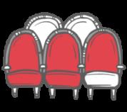 butacas rojas del teatro